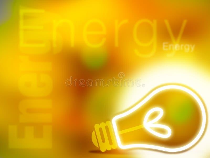 Ilustración amarilla abstracta de la energía ilustración del vector