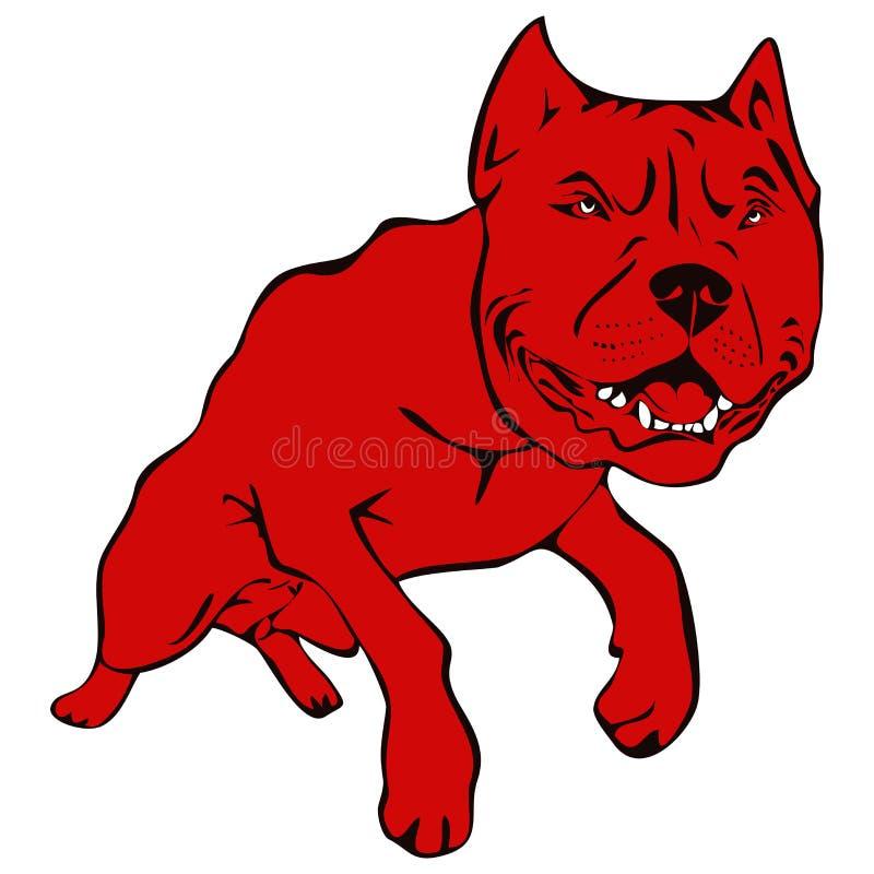 Ilustración americana del terrier del pitbull del perro stock de ilustración