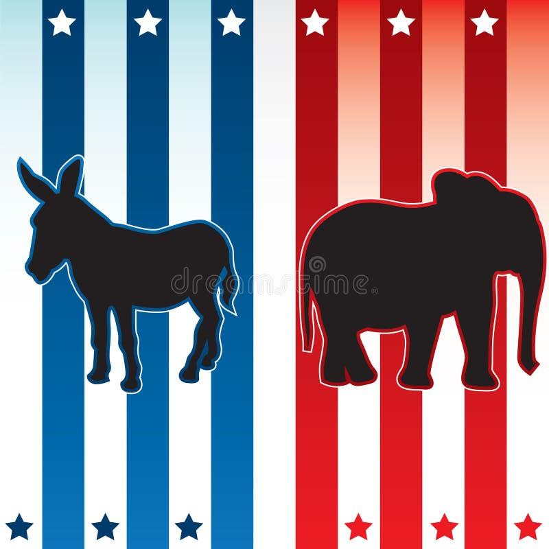 Ilustración americana del vector de la elección stock de ilustración