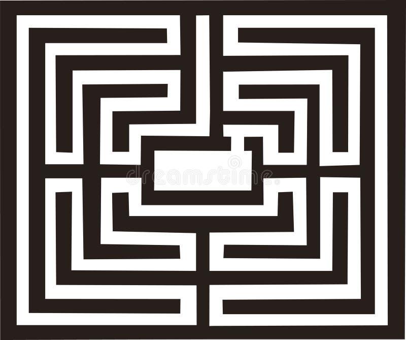 Ilustración antigua del laberinto ilustración del vector