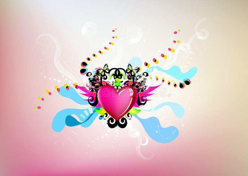 Ilustración artística del corazón ilustración del vector