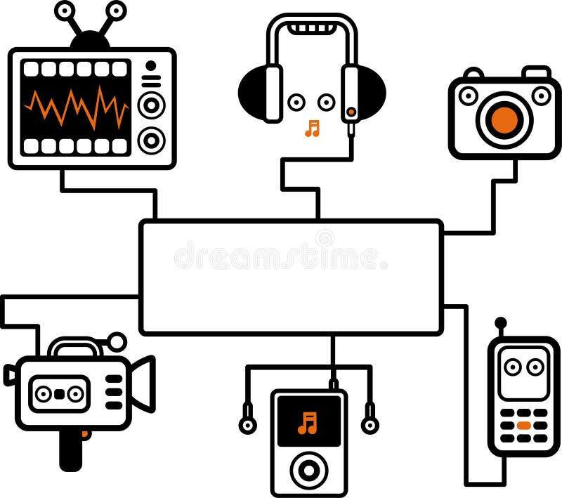 Ilustración audio-visual ilustración del vector