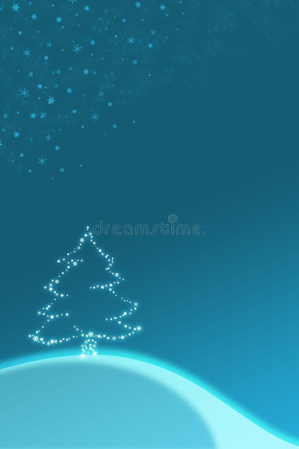 Ilustración azul de la Navidad stock de ilustración