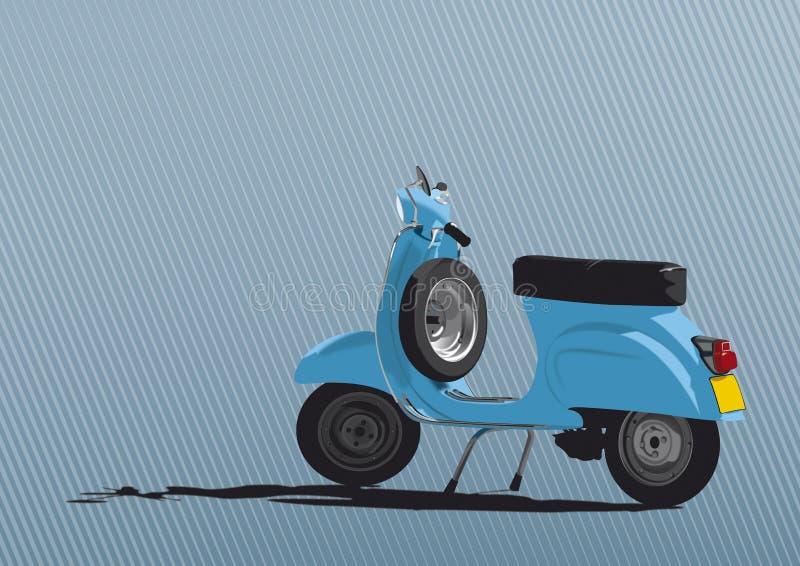 Ilustración azul de la vespa ilustración del vector