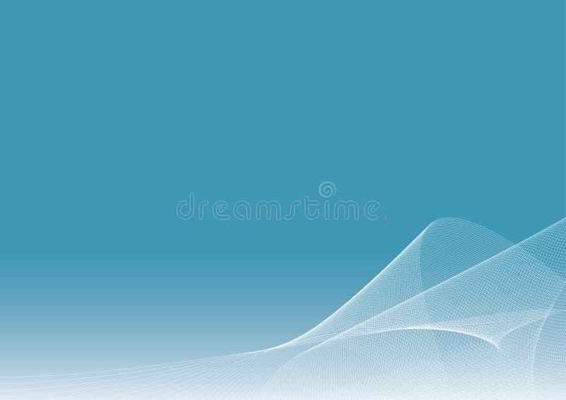 Ilustración azul del fondo con las líneas que fluyen ilustración del vector