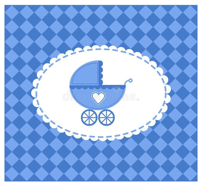 Ilustración azul del vector de un bebé libre illustration