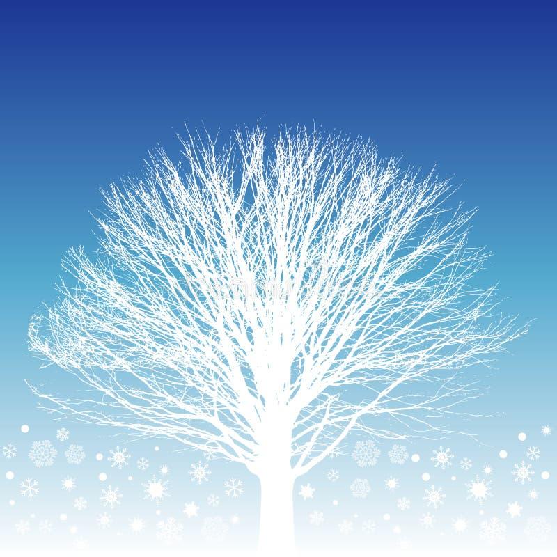 Ilustración blanca del árbol stock de ilustración