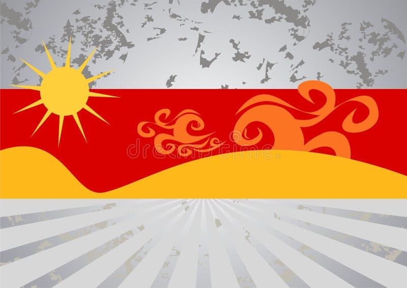 Ilustración caliente de la playa del verano libre illustration