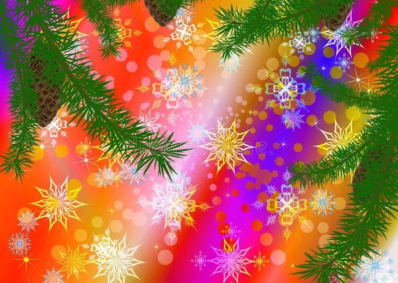 Ilustración celebradora abstracta del invierno stock de ilustración