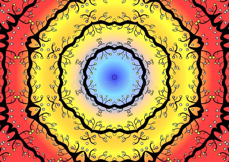 Ilustración circular colorida stock de ilustración