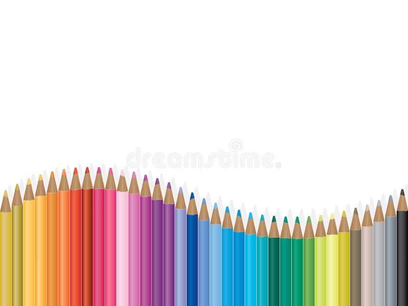Ilustración colorida de la onda del lápiz ilustración del vector