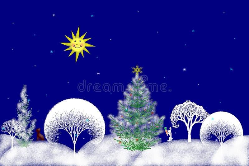 Ilustración común del día de la Navidad stock de ilustración