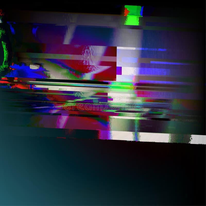 Ilustración común del vector Plantillas del error de la pantalla de ordenador del estilo de la interferencia Diseño del extracto  libre illustration