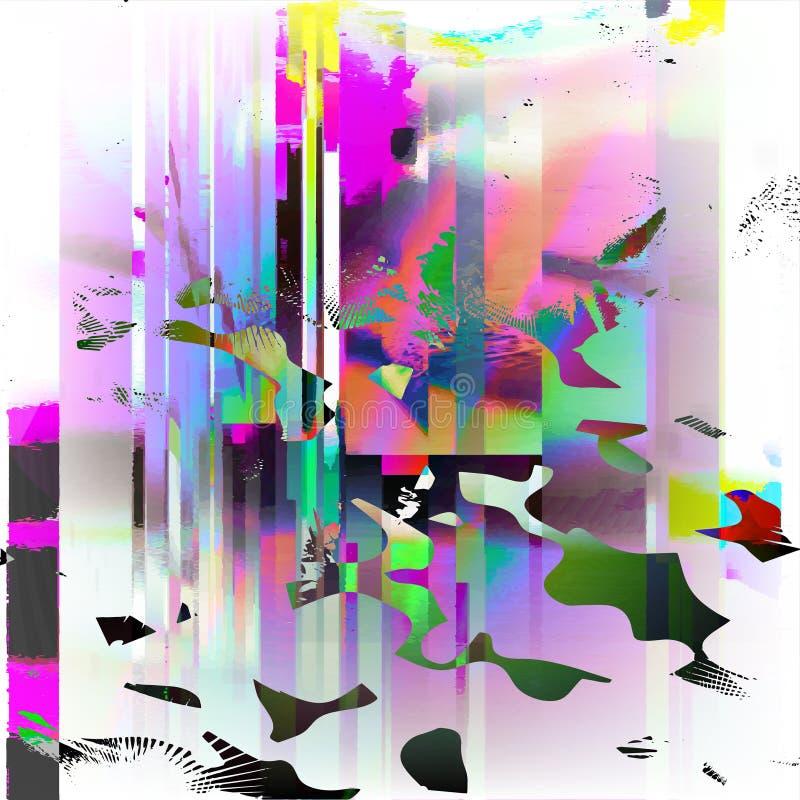 Ilustración común del vector Plantillas del error de la pantalla de ordenador del estilo de la interferencia Diseño del extracto  ilustración del vector