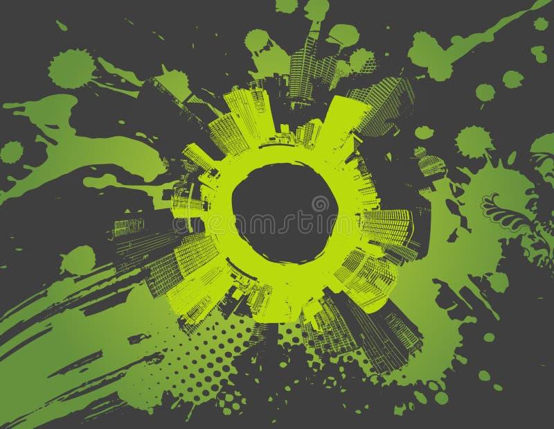 Ilustración con la ciudad. vector libre illustration