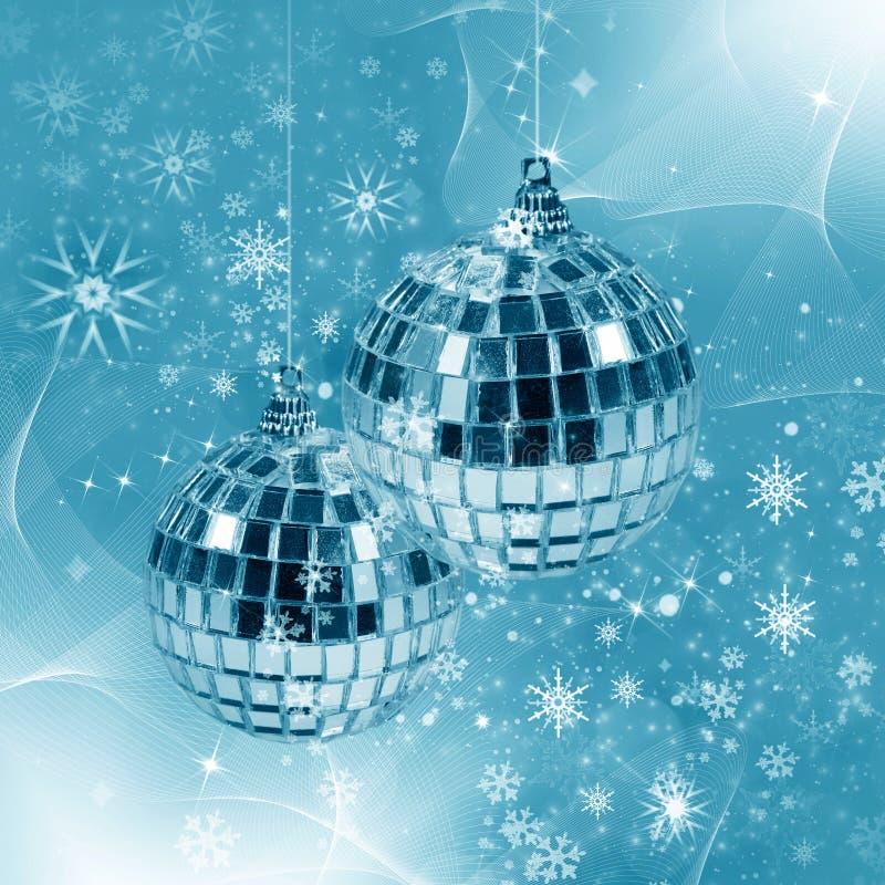 Ilustración con la decoración de la Navidad stock de ilustración