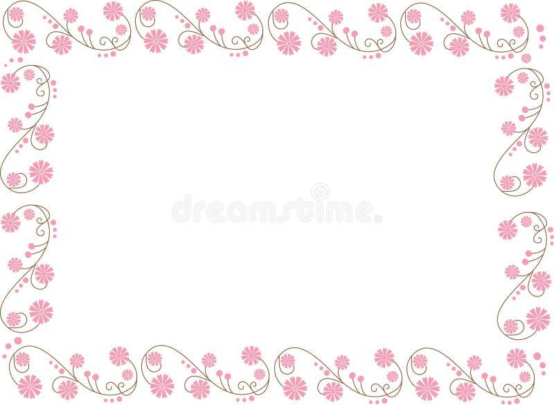 Ilustración con las flores foto de archivo libre de regalías