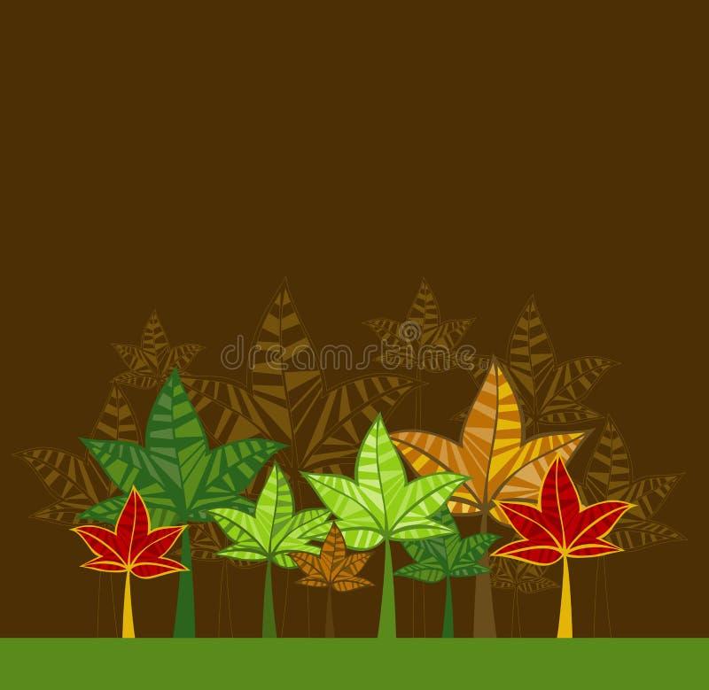 Ilustración con los árboles, vector stock de ilustración