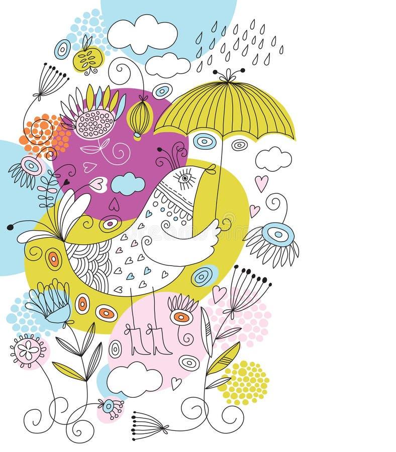 ilustración con los elementos infantiles libre illustration