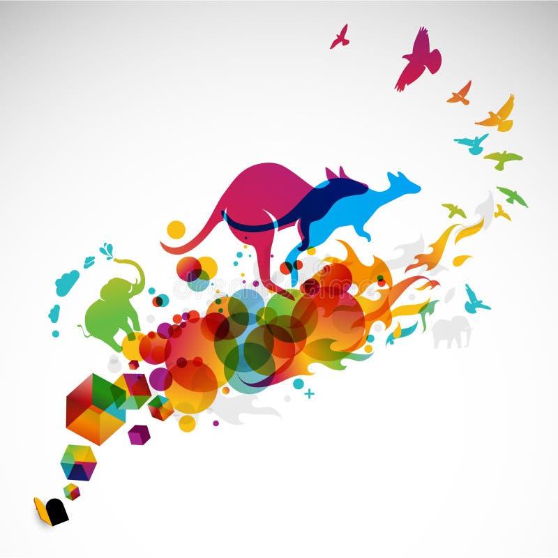 Ilustración creativa del gráfico del movimiento stock de ilustración