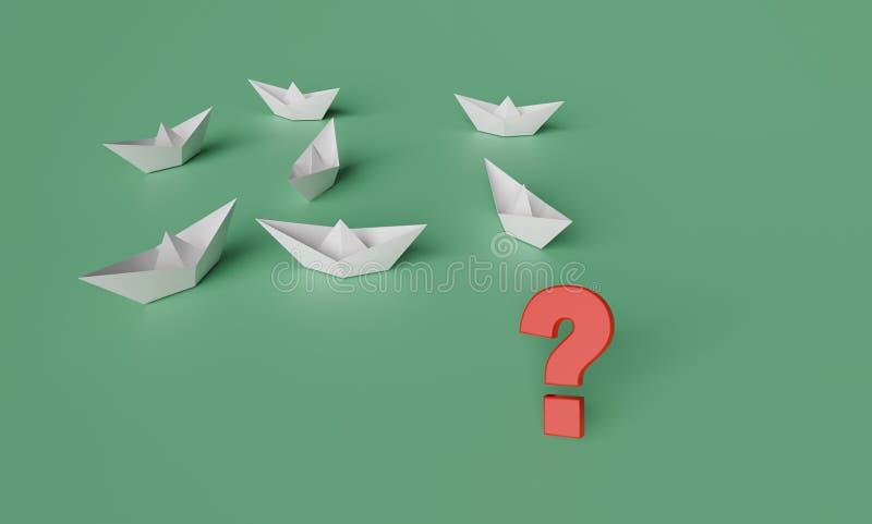 Ilustración 3D del concepto de no líder stock de ilustración