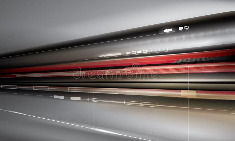 Ilustración de alta tecnología del concepto ilustración del vector
