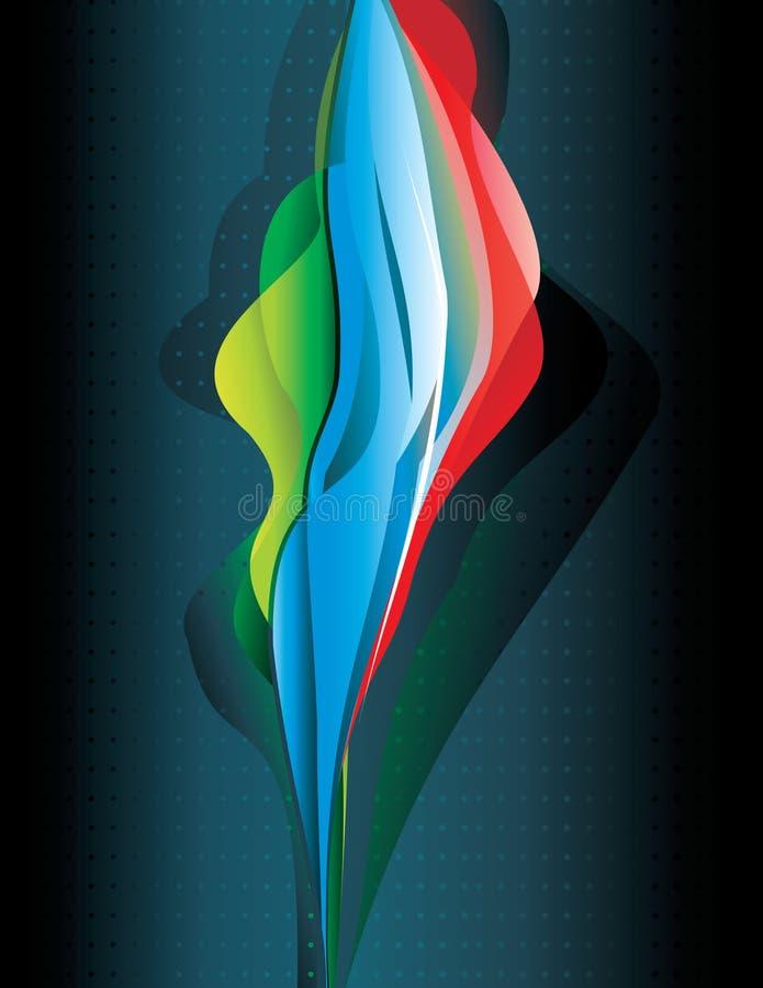 Ilustración de color abstracta ilustración del vector