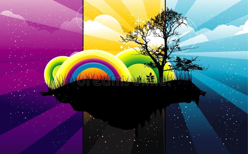 Ilustración de color abstracta del árbol libre illustration