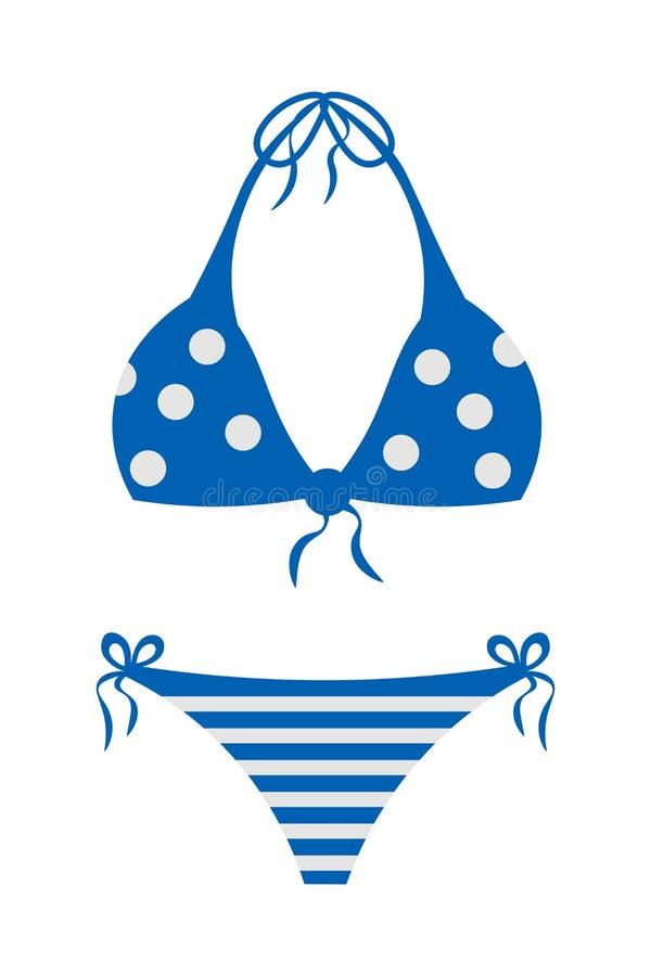 Ilustración de dibujos animados portadores Swimsuit ilustración del vector