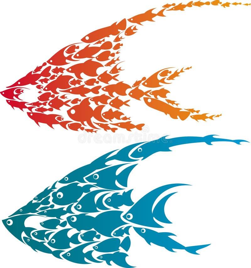 Ilustración de dos pescados ilustración del vector