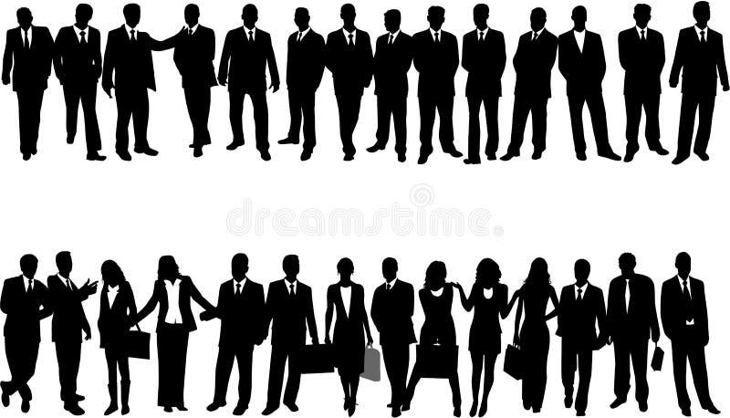 Ilustración de hombres de negocios ilustración del vector