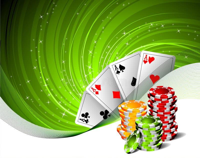 Ilustración de juego con los elementos del casino ilustración del vector