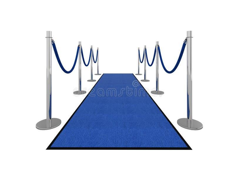 Ilustración de la alfombra del VIP - vista delantera stock de ilustración