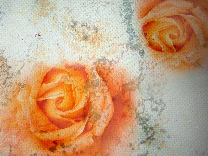 Ilustración de la bella arte - rosas de piedra ilustración del vector