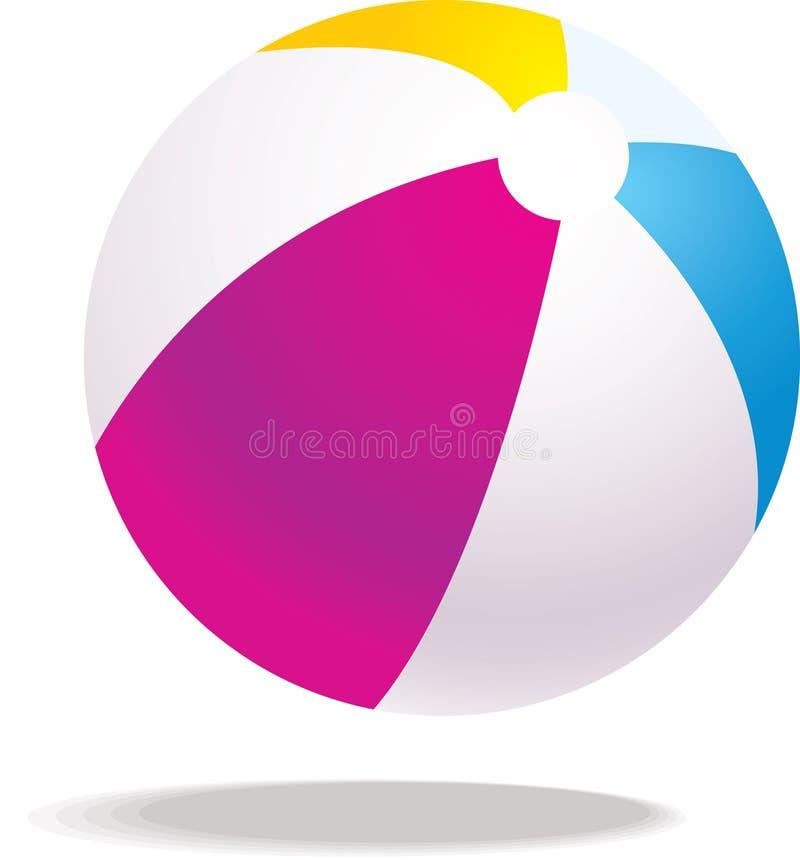 Ilustración de la bola de playa del vector ilustración del vector