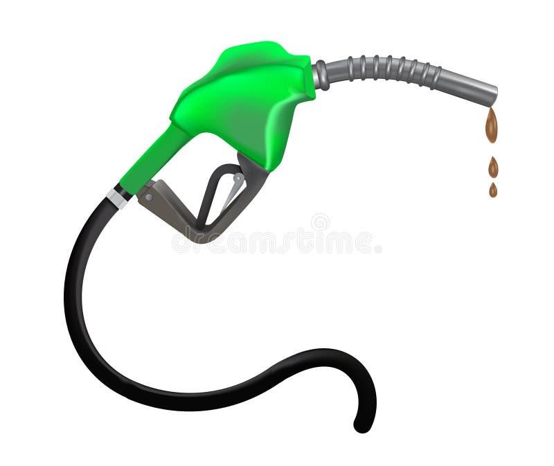 Ilustración de la boquilla de la gasolina ilustración del vector