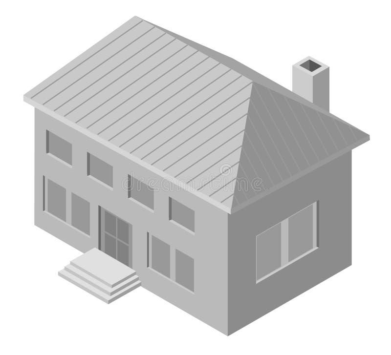 Ilustración De La Casa De Dos Pisos Ilustración del Vector ...