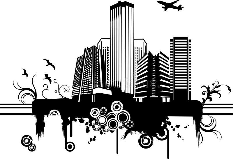 Ilustración de la ciudad del vector ilustración del vector