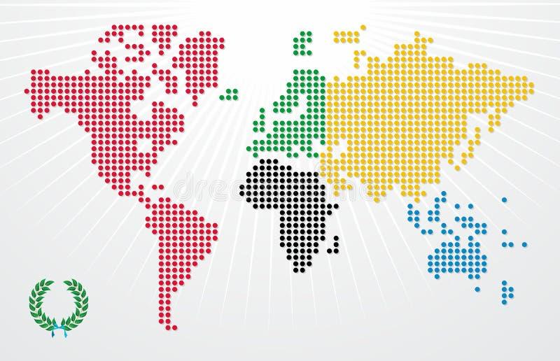 Ilustración de la correspondencia de mundo de los juegos de las Olimpiadas ilustración del vector