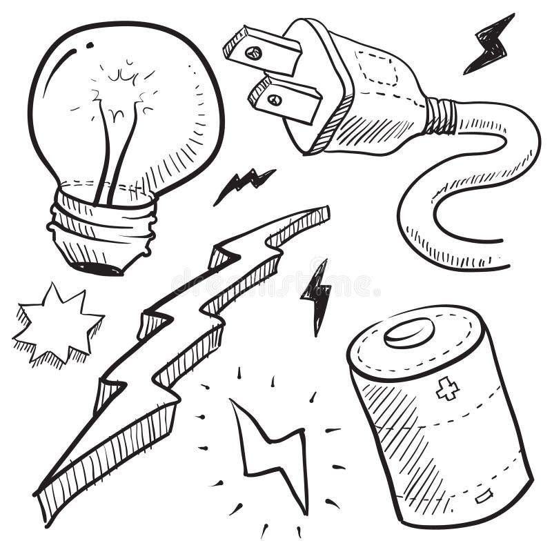 Ilustración de la electricidad y de la potencia ilustración del vector
