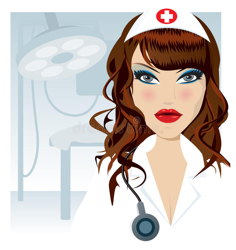 Ilustración De La Enfermera Fotografía de archivo