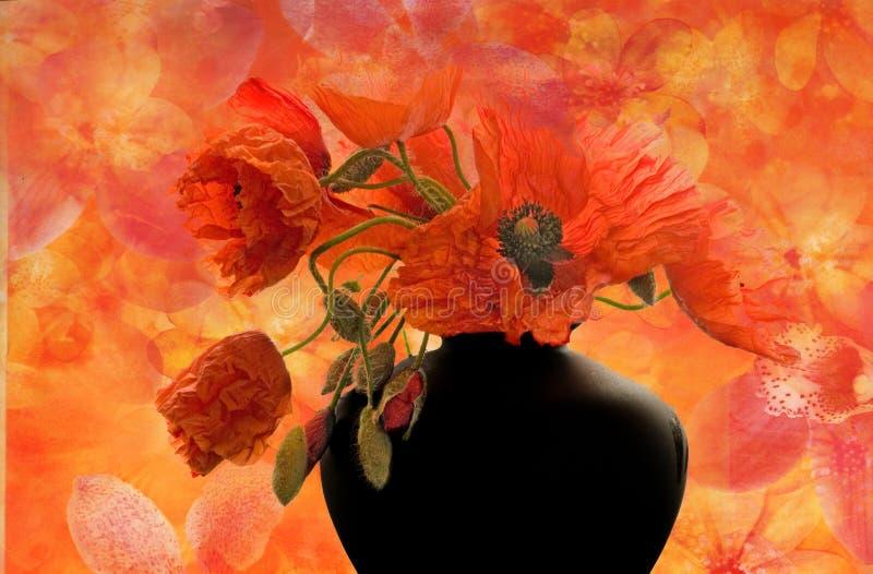 Ilustración de la flor de la amapola fotografía de archivo libre de regalías