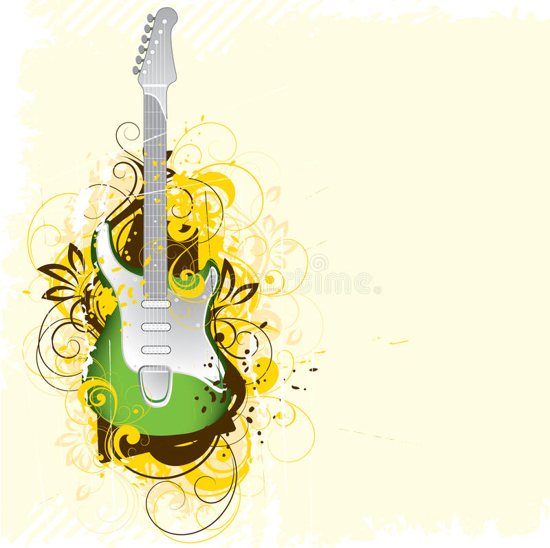 Ilustración de la guitarra libre illustration
