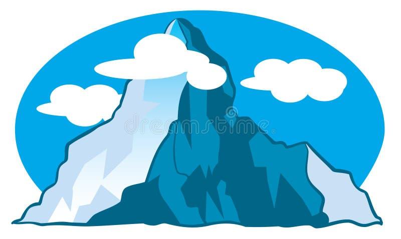 Ilustración de la historieta de la montaña stock de ilustración