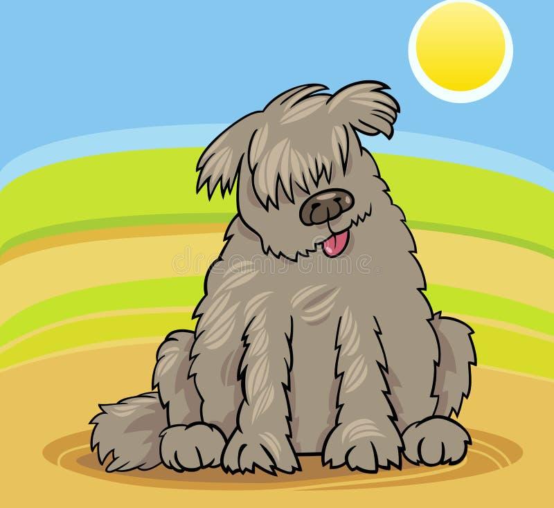 Ilustración de la historieta del perro de Terranova stock de ilustración