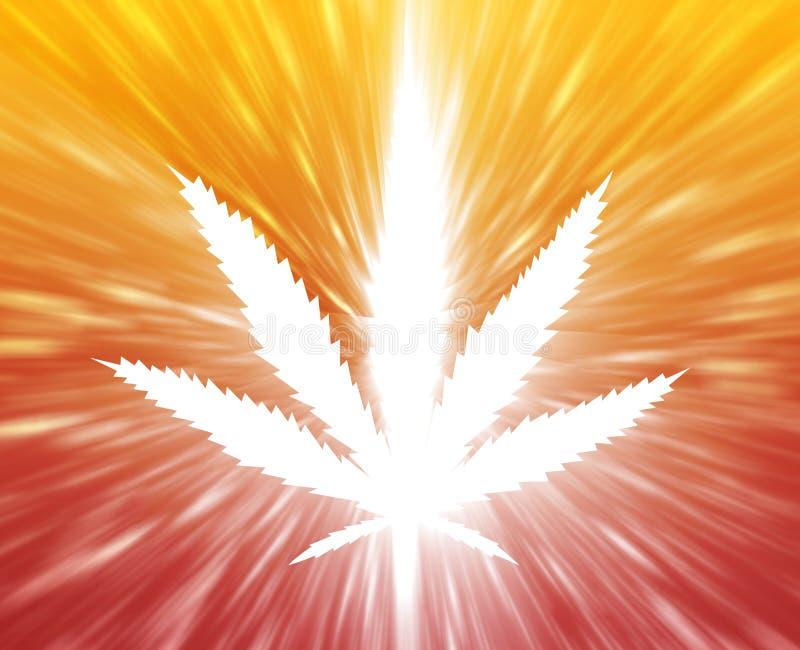 Ilustración de la hoja de la marijuana stock de ilustración