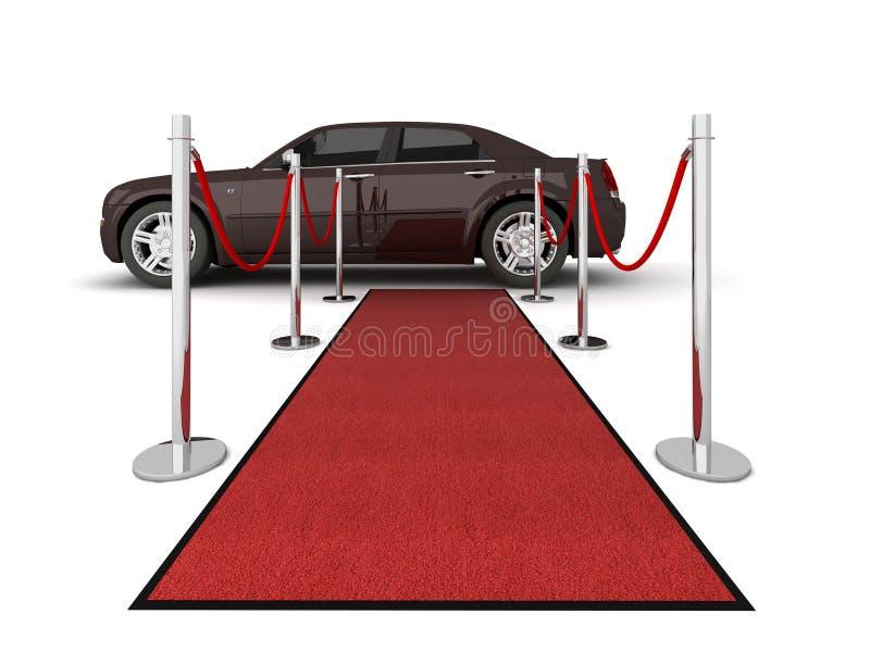 Ilustración de la limusina de la alfombra roja ilustración del vector