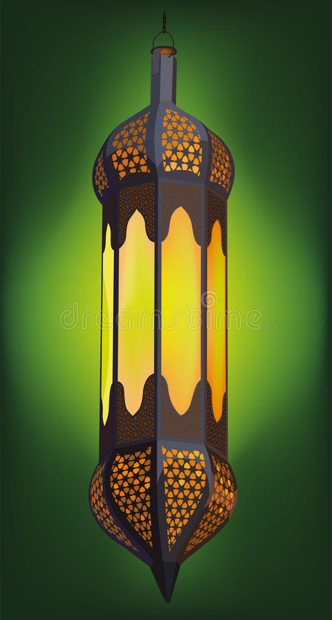 Ilustración de la linterna árabe tradicional stock de ilustración