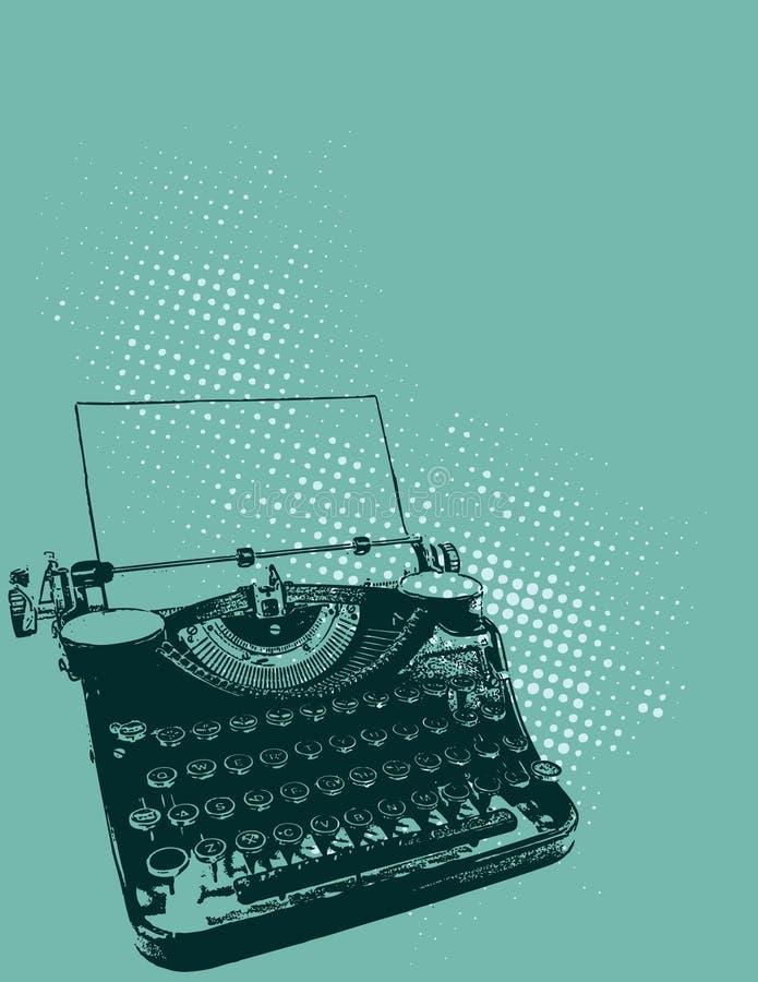 Ilustración de la máquina de escribir imagenes de archivo
