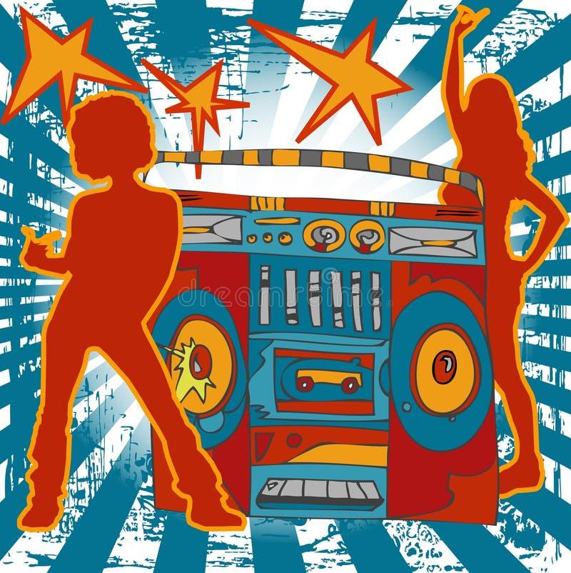 Ilustración de la música ilustración del vector